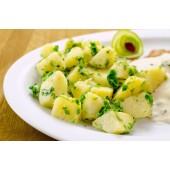 Cartofi natur cu verdeață