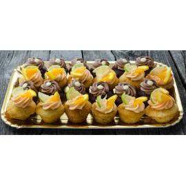 Platou Muffins cu ciocolată și citrice
